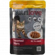 Влажный корм «Nutrilove» для взрослых кошек, 85 г.