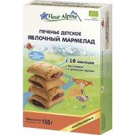 Детское печенье «Fleur Alpine» яблочный мармелад, 150 г.