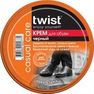 Крем для обуви «Twist» Casual, черный, 50 мл.