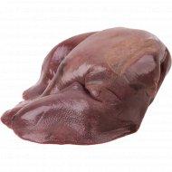 Печень свиная мороженая 1 кг., фасовка 0.8-1.1 кг