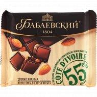 Шоколад темный «Бабаевский» с целым карамелизованным миндалем, 90 г.