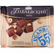 Шоколад темный «Бабаевский» с целым карамелизованным фундуком, 90 г.