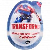 Хрустящие шарики «Transformers» с кремом и игрушкой, 15 г