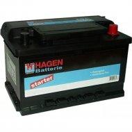 Аккумулятор автомобильный «Hagen» 70Ah, 57016