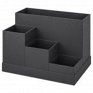 Подставка «Тьена» для канцелярских принадлежностей, 18x17 см, черная.