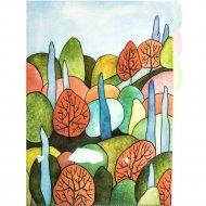 Папка уголок «Осень» А4, 3 деления, разноцветный