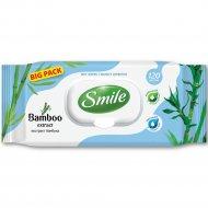 Влажные салфетки «Smile» с экстрактом бамбука, 120 шт