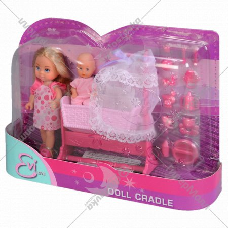Кукла «Эви» с кроваткой.