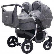 Детская коляска для двойни «Rant» Fenix Duo Prime 2 в 1 Черный джинс.