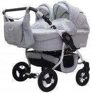 Детская коляска для двойни «Rant» Fenix Duo Prime 2 в 1 Серый джинс.