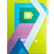 Папка уголок «Разноцветная геометрия» А4, 3 деления