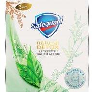 Мыло «Safeguard» Natural Detox, чайное дерево, 3 шт