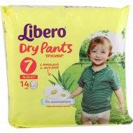 Подгузники-трусики «Libero» dry pants 7, 16-26 кг, 14 шт.