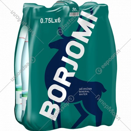 Вода минеральная «Borjomi» газированная 6х 0.75 л.