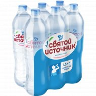 Вода питьевая «Святой источник» негазированная, 6 штук х 1.5 л.