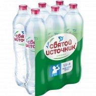 Вода питьевая «Святой Источник» газированная, 6 штх1.5 л.