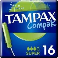 Тампоны женские «Tampax» Compa Super, с аппликатором 16 шт.
