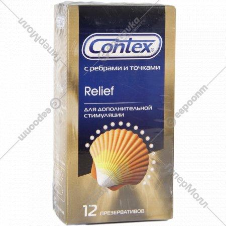 Презервативы «Contex» с ребрами и точками, 12 шт.