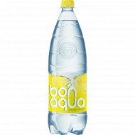 Вода питьевая газированная «Bonaqua» лимон, 1.5 л.