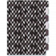 Папка уголок «Фактура» А4, 7 делений, чёрный/серый
