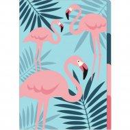 Папка уголок «Фламинго» А4, 3 деления, разноцветный