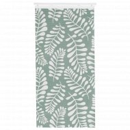 Узкая гардина «Юрла» 60x300 см, зелено-белая.