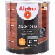Защитно-декоративный состав «Alpina» Лессировка, кедр, 2.5 л