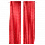Затемняющие гардины «Розалилл» 145x300 см красный/белый