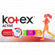Тампоны женские гигиенические «Kotex» Active Normal, 16 шт.