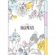 Папка уголок «Цветы» А4, 3 деления, разноцветный