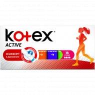 Тампоны женские гигиенические «Kotex» Active Super, 16 шт.