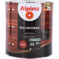 Защитно-декоративный состав «Alpina» Лессировка, рябина, 2.5 л