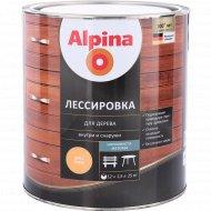 Защитно-декоративный состав «Alpina» Лессировка, орех, 2.5 л