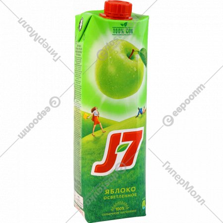 Сок « J7» яблочный, 970 мл.