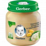 Пюре «Gerber» цветная капуста и картофель 130 г.