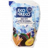 Йогурт «Греческий» чернослив-злаки 1.5 %, 800 г.