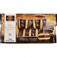 Бисквитное печенье«Feiny Biscuits»с шоколадным кремом и вишней, 380 г.