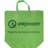 Хозяйственная сумка «Евроопт» с петлевой ручкой и логотипом.