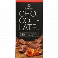Молочный шоколад «BonGenie» c карамелью 35%, 100 г.