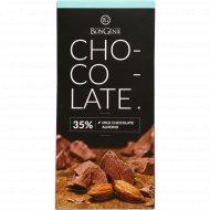 Молочный шоколад «BonGenie» c миндалем, 95 г.