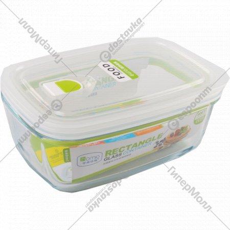 Стеклянный пищевой контейнер, 840 мл.