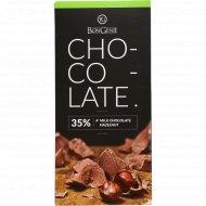 Молочный шоколад «BonGenie» c фундуком, 95 г.
