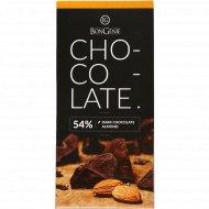 Темный шоколад «BonGenie» c миндалем 54%, 95 г.