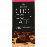 Темный шоколад «BonGenie» 74%, 100 г.