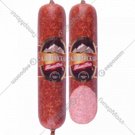 Колбаса варено-копченая «Альпийская» высший сорт, 1 кг., фасовка 0.5-0.6 кг
