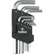 Набор ключей «Topex» шестигранные CV, 1.5-10 мм, 9 шт