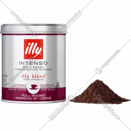 Кофе молотый «Illy» темной обжарки, 125 г.
