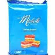 Мармелад желейный «Michelle» трехслойный, резаный, 306 г.