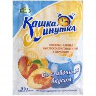 Хлопья овсяные «Кашка-минутка» с персиком со сливочным вкусом, 43 г.