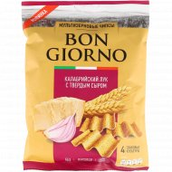 Чипсы мультизерновые «Bon Giorno» калабрийский лук с сыром, 70 г.